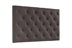 cabezal cama tapizado chocolate
