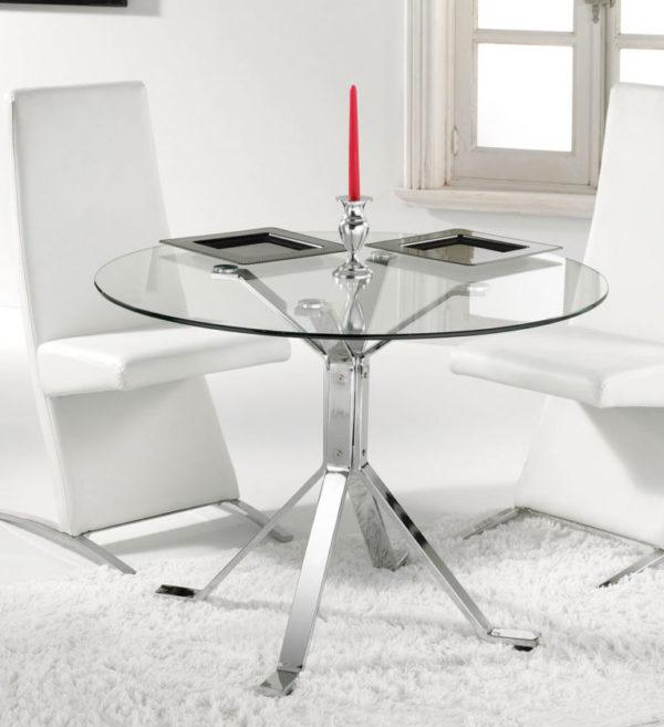 Mesa cristal redonda