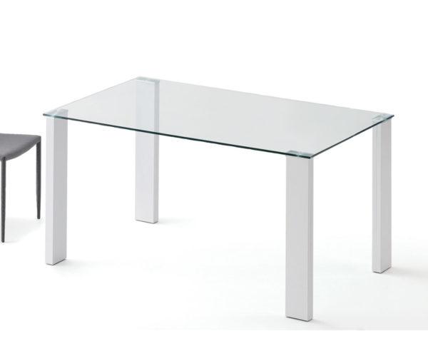 Mesa cristal cuadrada