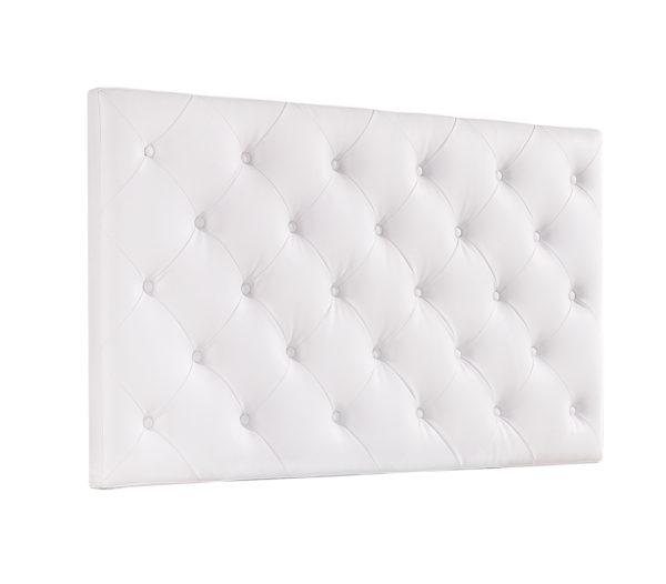 cabezal cama tapizado blanco