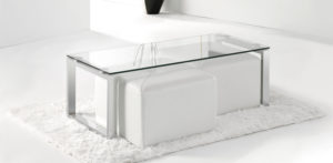 Mesas centro cristal
