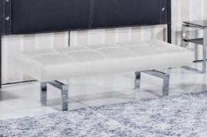banco tapizado blanco