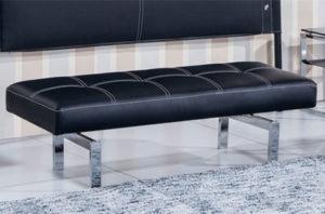 banco tapizado negro