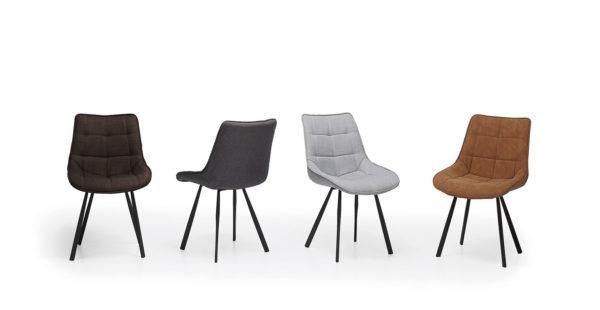 silla acolchada de colores