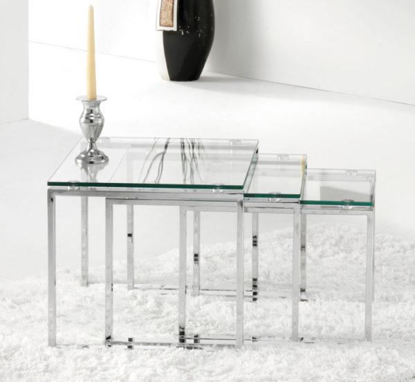 mesas cristal centro