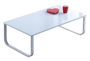 mesa cristal blanca
