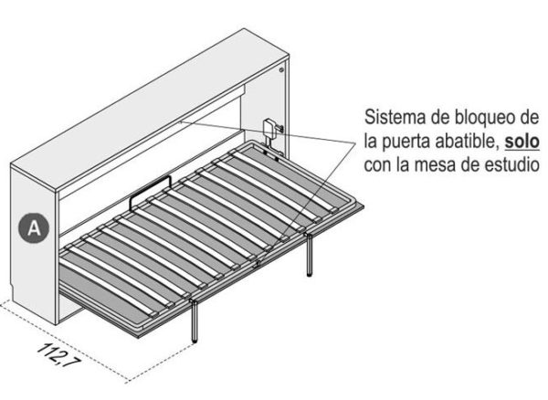 Cama abatible horizontal GAMES 2