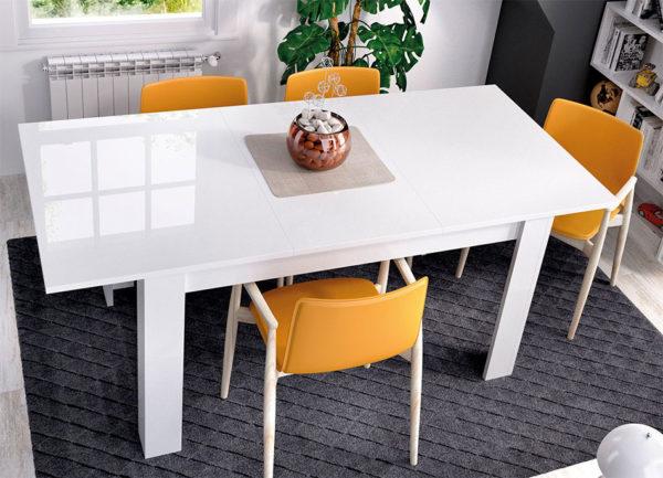 Mesa comedor extensible DINE blanco 2