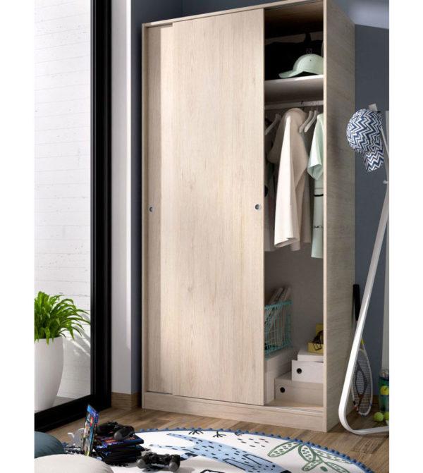 Armario puertas correderas SLIDE 100 natural 2