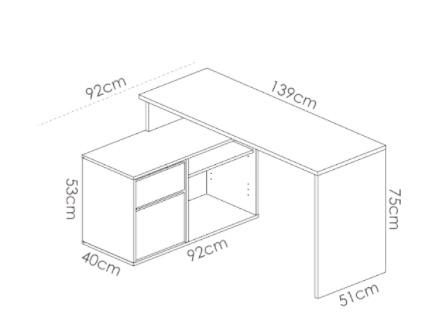 Mesa escritorio en L ROX 1