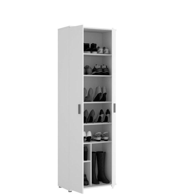 Armario multiusos de 2 puertas y 6 estantes FIT 2