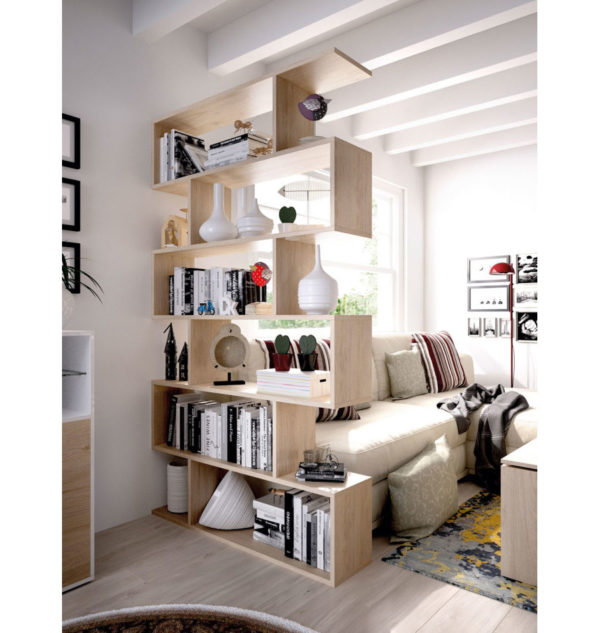 estantería moderna madera