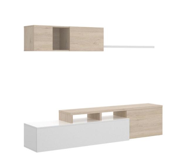 Mueble de salón ELLE blanco/natural 2