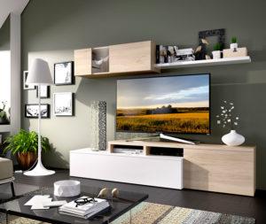 Mueble salon blanco