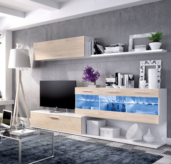 Mueble salon leds