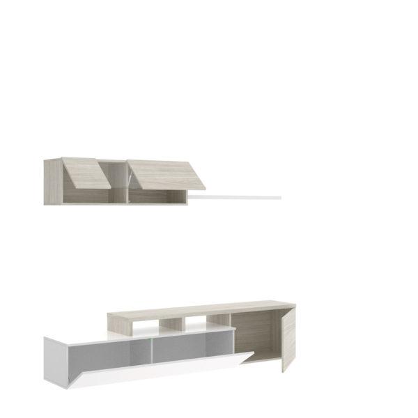 Mueble de salón ELLE blanco/gris 6