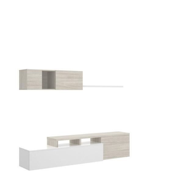Mueble de salón ELLE blanco/gris 5