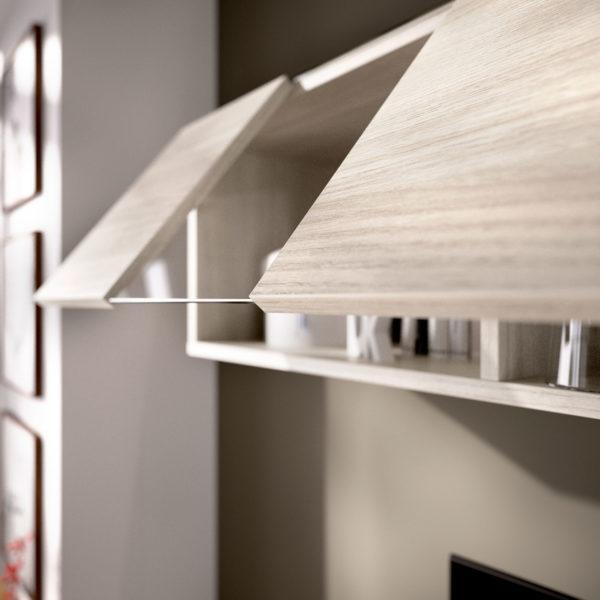 Mueble de salón ELLE blanco/gris 4
