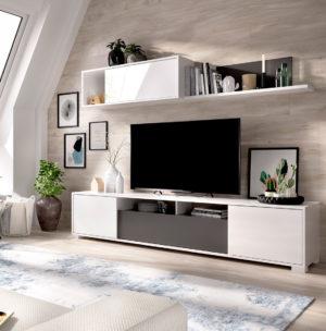 Mueble de salón TV KEN grafito 2