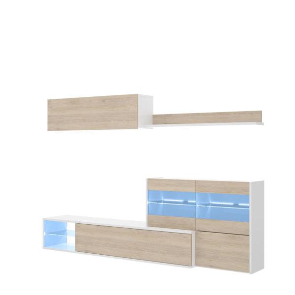 Mueble de salon con vitrina