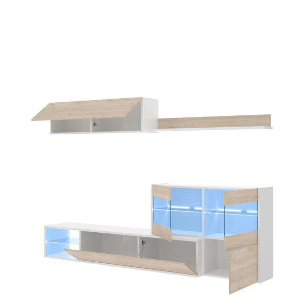 Mueble con vitrina