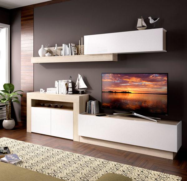 Mueble de madera salón ENNA 1