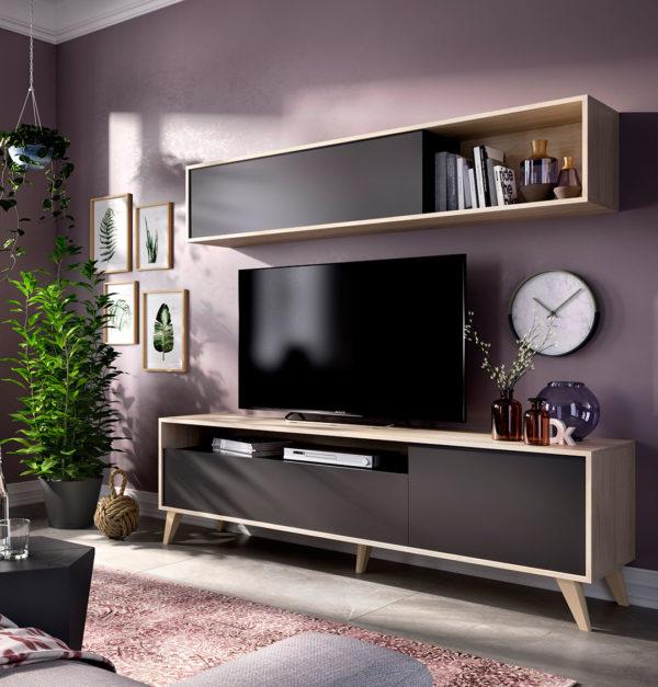 Mueble bajo madera TV