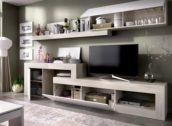 mueble salón tv blanco LEBO 2