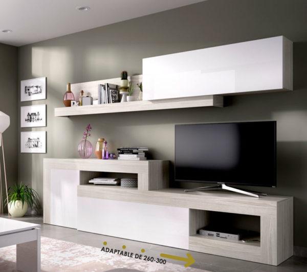 mueble salón tv blanco LEBO 1