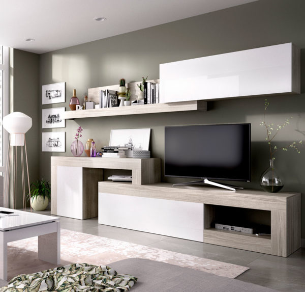 mueble salón tv blanco LEBO 3