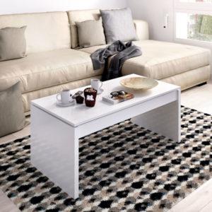 mesa de centro elevable SIDE blanca