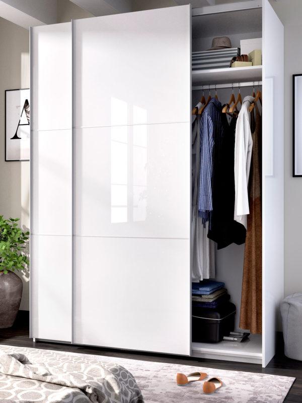 blanco armario puerta corredera