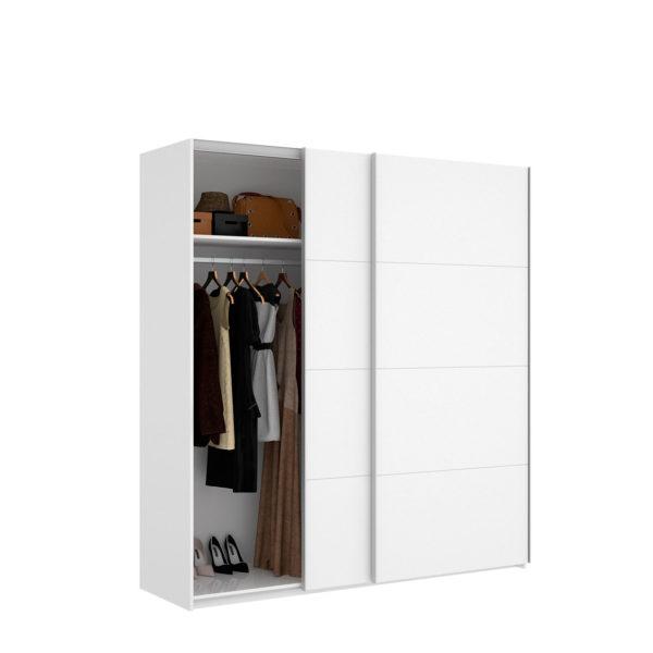 Armario puertas correderas 180 cm blanco