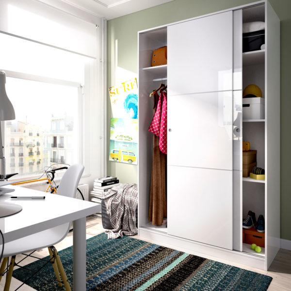 armario 120 cm puerta corredera