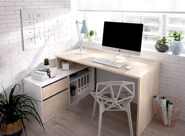 mesa de escritorio en l barata rox