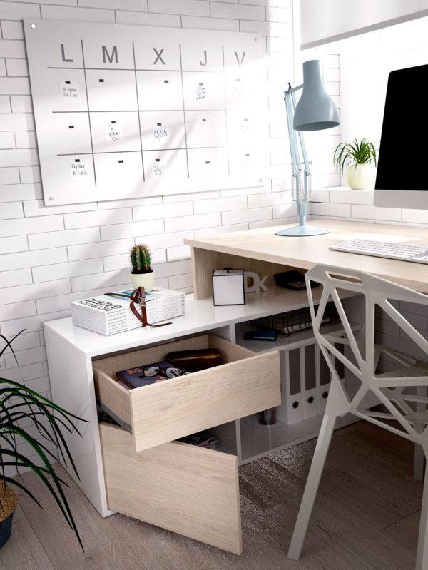 mes ade escritorio en l barata rox cajones