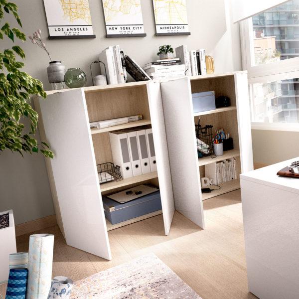 armario bajo de 2 puertas rox blanco