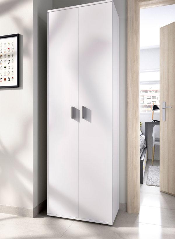 Armario multiusos de 2 puertas y 6 estantes FIT 3
