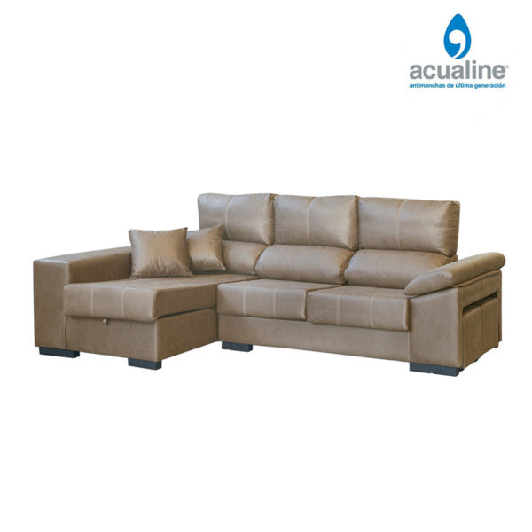 Sofá chaiselongue rusia 3 plazas beig
