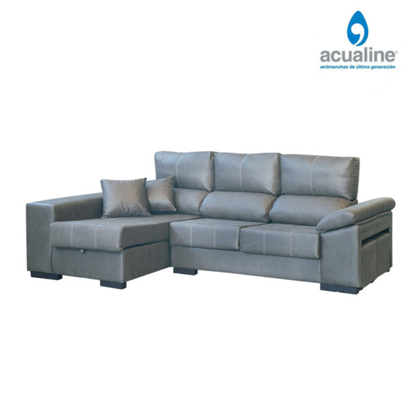 Sofá chaiselongue rusia 3 plazas gris