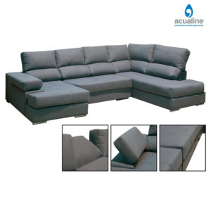 Chaiselongue amplio venecia gris