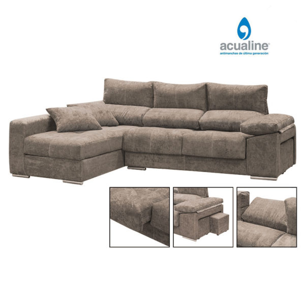 Chaiselongue con 2 puffs Copi 2