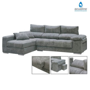 Chaiselongue con 2 puffs Copi 4