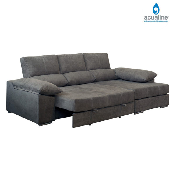 chaiselongue extra suave david de color gris expandidos