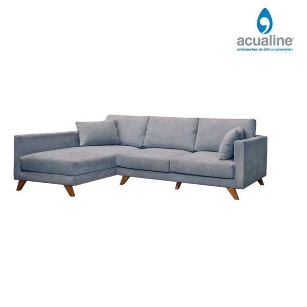 chaiselongue elegante 3 plazas gris