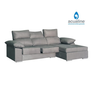 Nube comodo chaiselongue 3 plazas gris