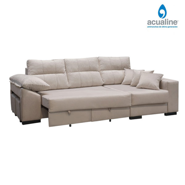 chaiselongue clasic 3 plazas de color beig
