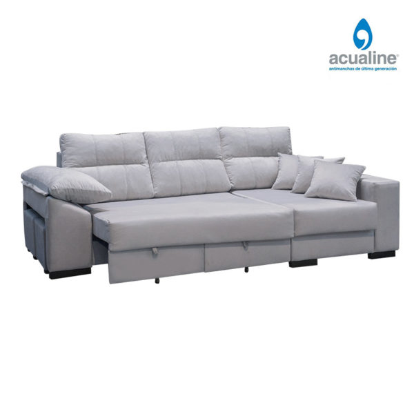 chaiselongue clasic 3 plazas gris abierto