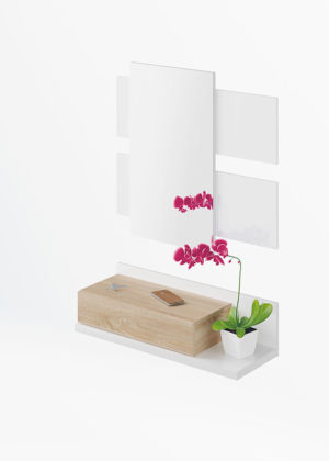 Recibidor 1 cajón + espejo MODERN 6