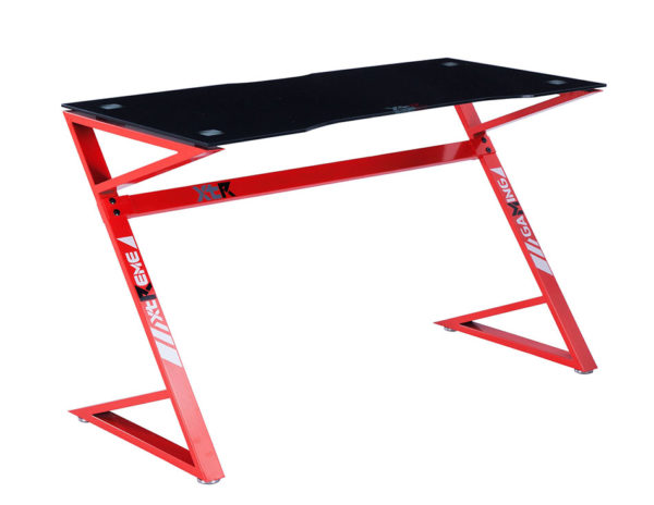 Mesa gamer XTR carbono/rojo 1